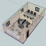 3d office layout