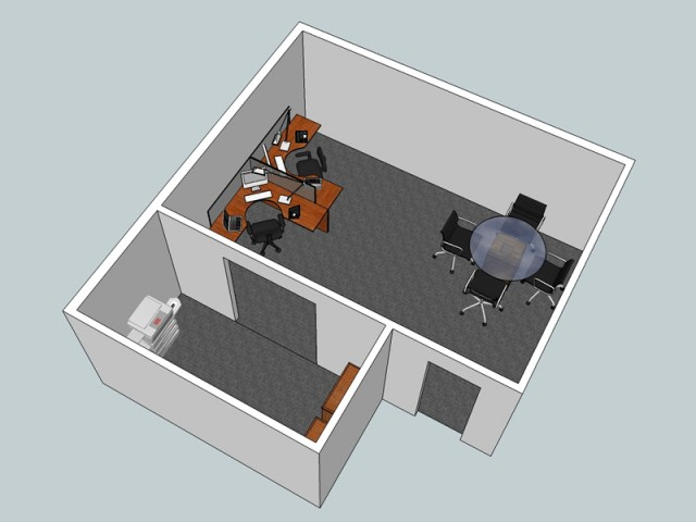 Office sketchup layout