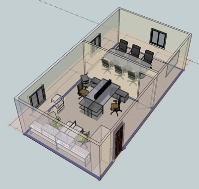3d layout examples wny office space Office design 3d
