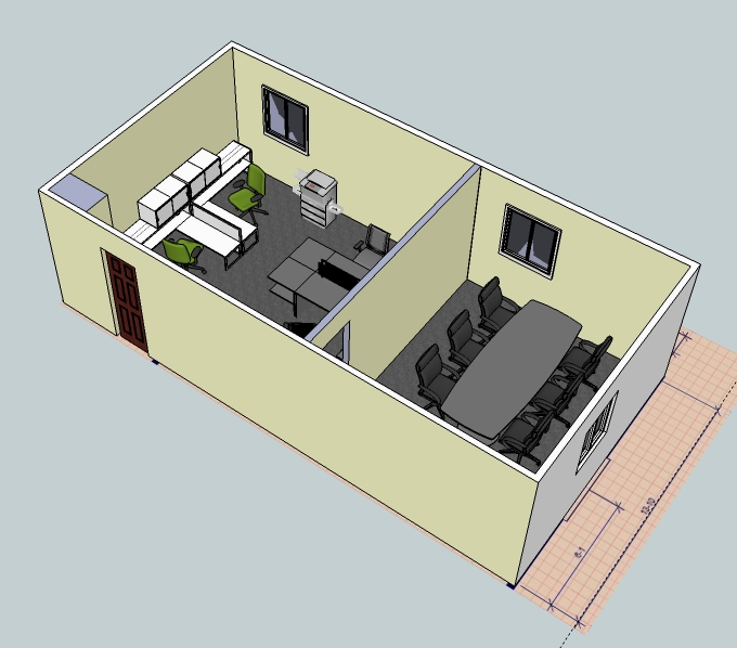 3d layout examples wny office space for Office layout design 3d
